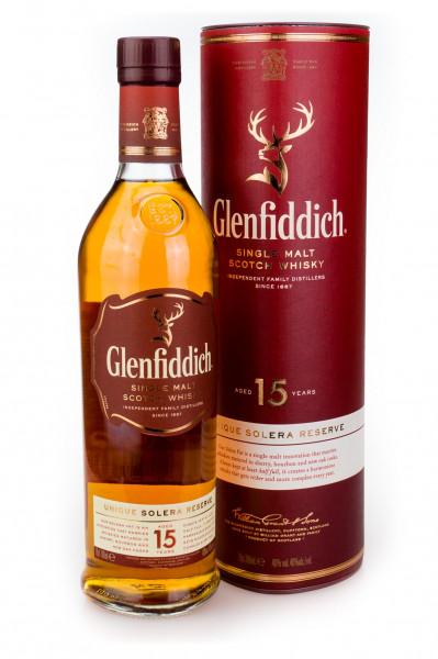 Glenfiddich 15 Jahre Single Malt Scotch Whisky - 0,7L 40% vol