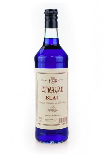 Monin Liqueur Blue Curaçao Blau - 1 Liter 20% vol