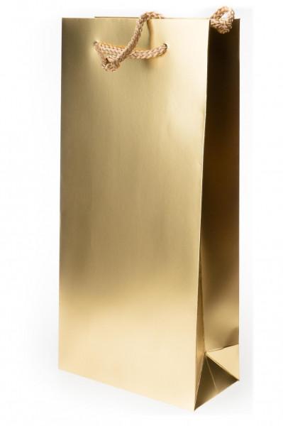2er Geschenk-Mattglanztüte gold 170 x 85 x 360 mm
