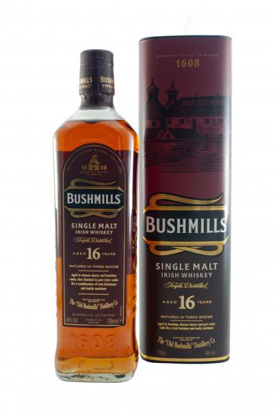 Bushmills Malt 16 YO, Three Woods, Irish Single Malt Whiskey - 40% vol - (0,7L)