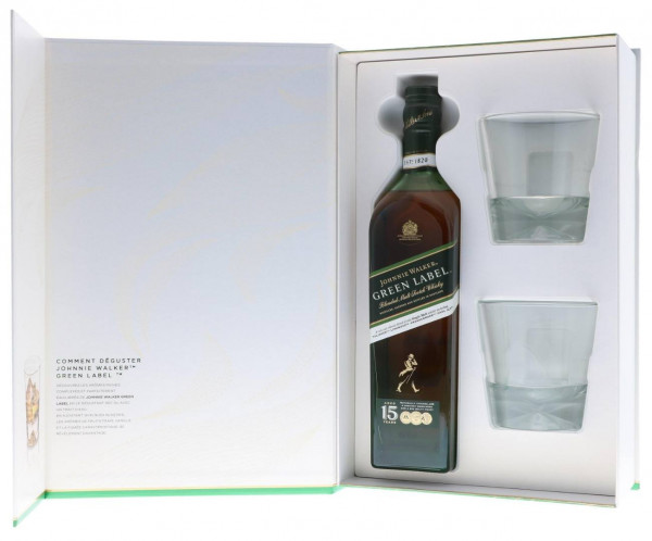 Johnnie Walker Green Label GEPA mit 2 Gläsern - 0,7L 43% vol