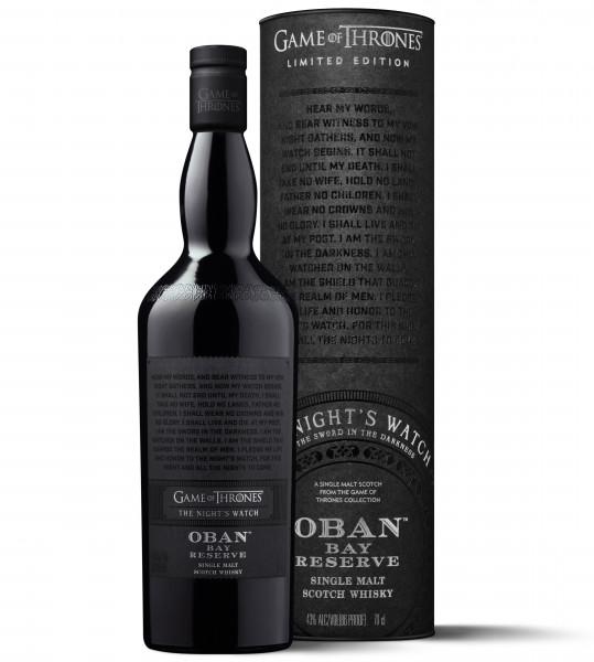 The Night's Watch Oban Bay Reserve Single Malt Scotch Whisky - 0,7L 43% vol