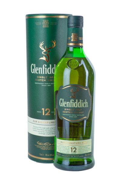 Glenfiddich 12 Jahre Single Malt Scotch Whisky - 1 Liter 40% vol