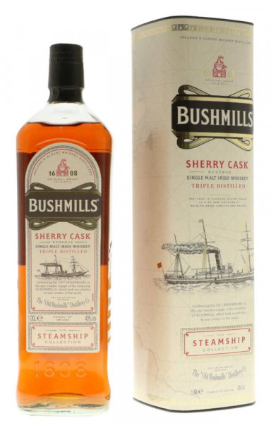 Bushmills Steamship Sherry Cask Single Malt Whiskey - 1 Liter 40% vol