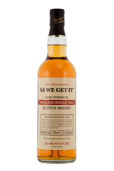 Ian Macleods As we get it Highland Single Malt Scotch Whisky - 0,7L 64,6% vol