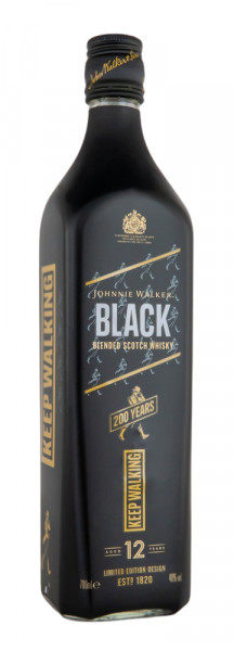 Johnnie Walker Black Label 200 Jahre Limited Edition - 0,7L 40% vol