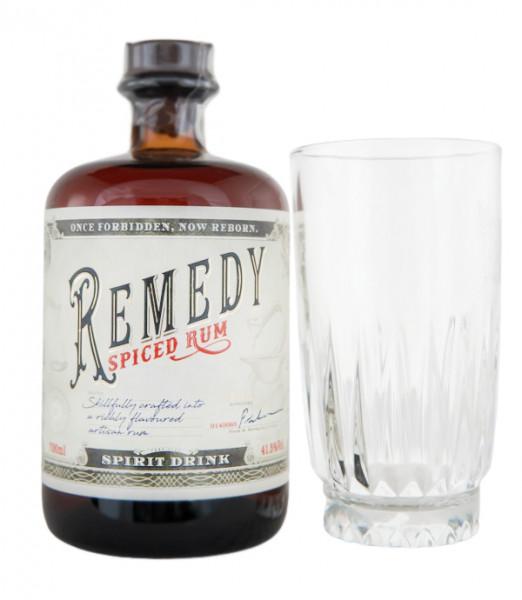Remedy Spiced Rum + Glas - 0,7L 41,5% vol