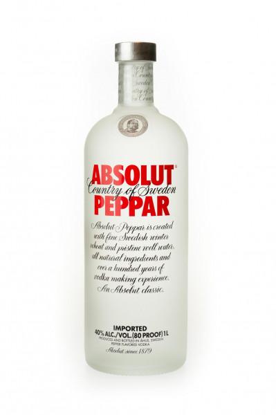 Absolut Peppar Flavoured Vodka - 1 Liter 40% vol