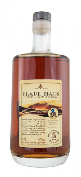 Blaue Maus Single Cask Whisky Fass 1 - 0,7L 40% vol