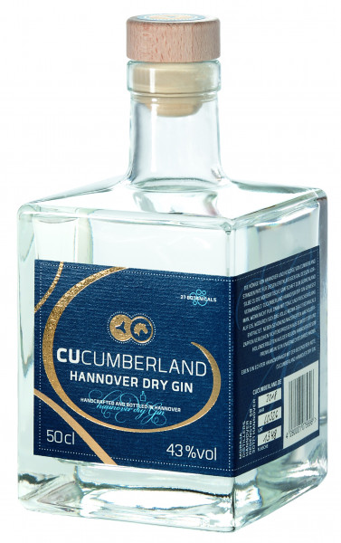 Cucumberland Hannover Dry Gin - 0,5L 43% vol