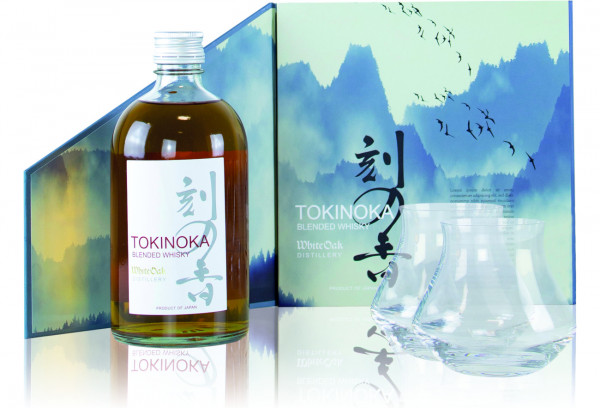Tokinoka White Blended Whisky + 2 Gläser - 0,5L 40% vol
