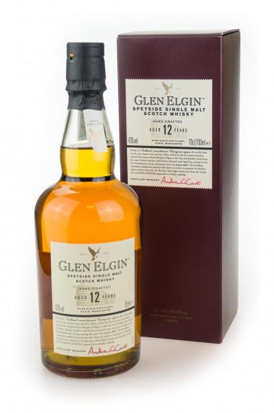Glen Elgin 12 Jahre Speyside Single Malt Scotch Whisky - 0,7L 43% vol