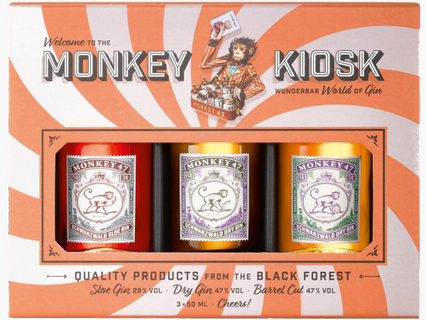 Monkey 47 Gin 3er Kiosk Mini Set - 0,15L 41% vol