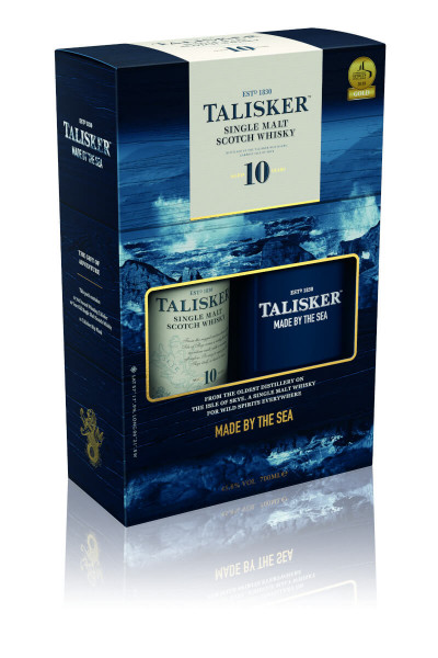 Talisker 10 Jahre Single Malt Scotch Whisky + Flachmann - 0,7L 45,8% vol